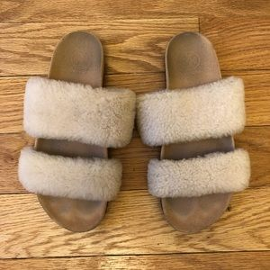 Tory Burch Shearling Slides